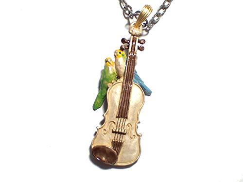 パルナートポック ネックレス 鳥 Palnart Poc 『 愛の挨拶 』 楽器 アクセサリー バイオリン オカメインコ バード かわいい 発表会 人気 音楽 ブランド ペンダント レディース プレゼント モチーフ 星 花