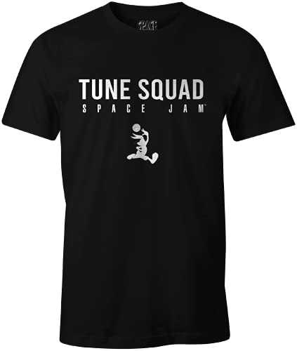 Looney Tunes MESPJ2MTS016 Camiseta, Negro, S para Hombre