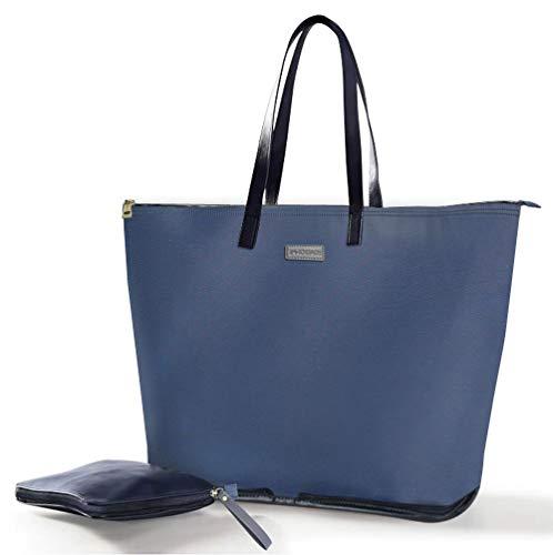 Home Innovation Opvouwbare en Herbruikbare boodschappentas, Waschble Grote boodschappentas, Lichtgewicht, maar Duurzame tas met Rits om te winkelen, Fitness - Blauw