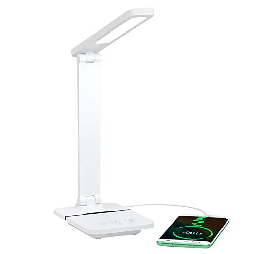 3m desk lamps DEEPLITE LED Desk Lamp with USB Charging Port - Battery Operated, Dimmable, Touch Control, 10 Minutes Timer - Cordless Portable Desk Light for Kids Study Office - White