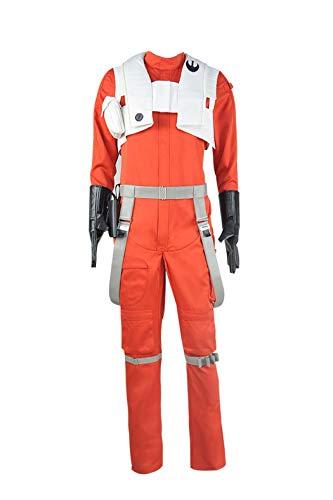 Disfraz de PoE Dameron de Star Wars The Force Awakens - Naranja - Hombre Large