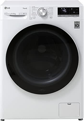 LG V5WD96H1 Waschtrockner - 9 kg Waschen / 6 kg Trocknen - Inverter Motor, Weiß, 1400 U/Min