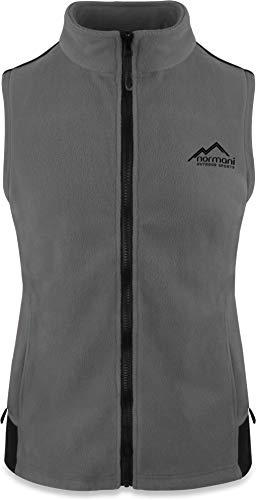 normani Fleece Weste für Damen mit Reißverschlusstaschen, Stehkragen, ZIP-T3K System Farbe Grau Größe S