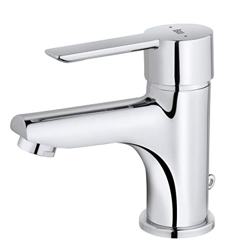 Strohm Teka - Grifo de lavabo PETRA. Monomando de lavabo con sistema de instalación fácil, cromado, plata