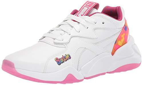 PUMA Zapatillas Nova X Barbie para mujer, blanco (Puma blanco-cabaret), 38.5 EU