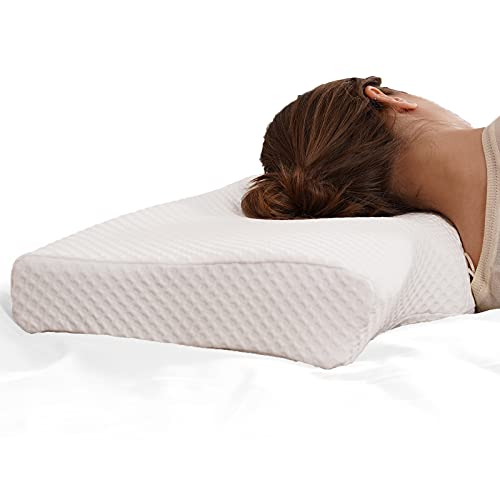Cervical Pillow,Memory Foam Pillow for Neck Pain,Ergonomic Neck Pillow for Side Sleepers,Back and Stomach Sleepers,Side Sleeper Pillows for Sleeping
