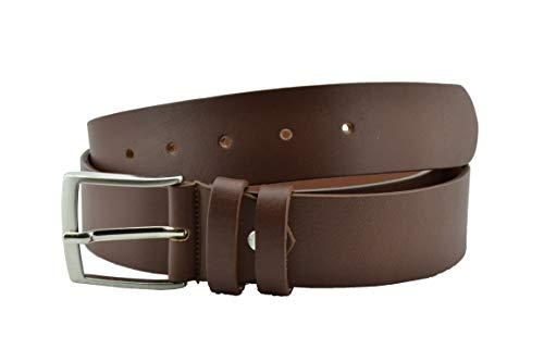 Conte Massimo Cintura Uomo In Cuoio, Senza Cuciture, Accorciabile alta 4cm Marrone Cuoio 125 (taglia 54-56)