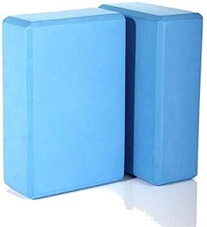 FEGSY High Density Foam Yoga Block Brick Set of 2 for Improve Strength, Aid Balance, and Flexibility (Multicolor)