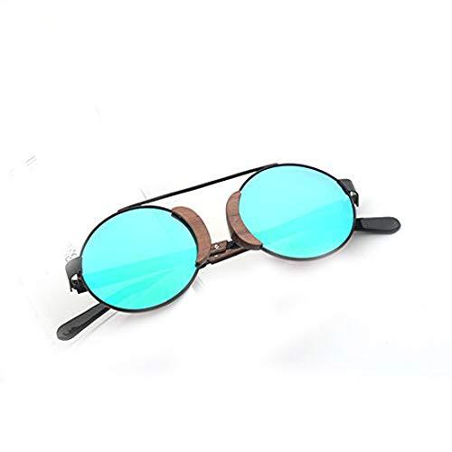 PZXY Holz Sonnenbrillen Retro-Outdoor polarisiert UV/Runde Damen Brillen