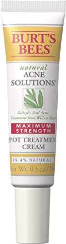 Burt's Bees Natural Acne Solutions Maximum Strength Spot Treatment Cream for Oily Skin, 0.5 Oz (Package May Vary)