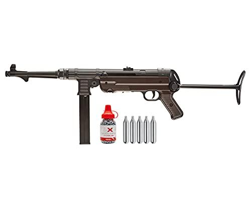 Umarex Legends MP .177 Caliber CO2 Blowback BB Gun Air Rifle with Wearable4U 1500 BBS and 5xCO2 Tanks Bundle