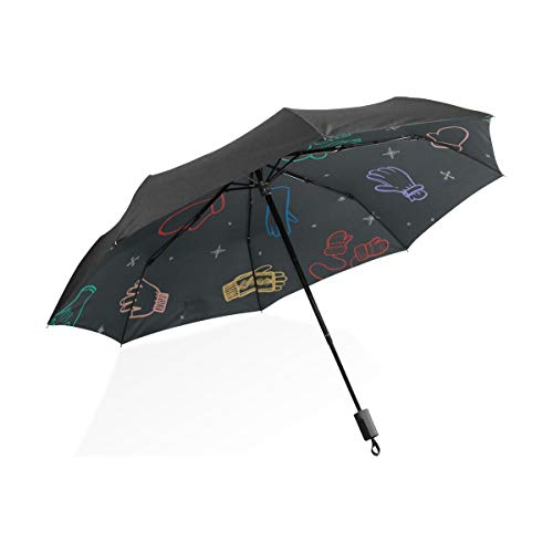 Mädchen Regenschirm Für Kinder Bunte Kreative Leder Boxhandschuhe Tragbare Kompakte Taschenschirm Anti Uv Schutz Winddicht Outdoor Reise Frauen Tote Reiseschirm