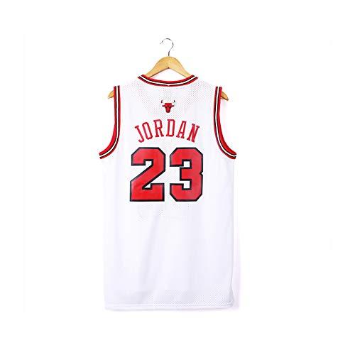 LAZYZ Bulls Jordan #3 Uniforme de baloncesto para hombre, retro de malla de baloncesto, sudadera de secado rápido, camiseta bordada (S-2XL), color color, tamaño small