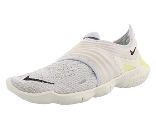 Nike Men's Free Rn Flyknit 3.0 Track & Field Shoes, Multicolour (Pure Platinum/Black/Luminous Green 000), 7 UK