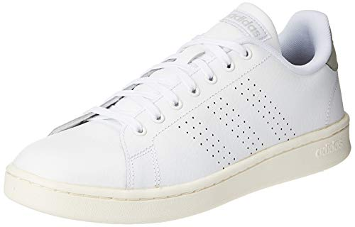 adidas Advantage - Zapatillas de tenis para hombre, color blanco y blanco, color, talla 39 1/3 EU