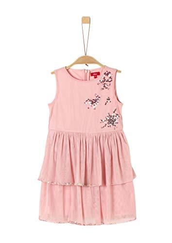 s.Oliver Mädchen 58.911.82.3003 Kleid, Rosa (Rose 4259), 128 (Herstellergröße:128/REG)