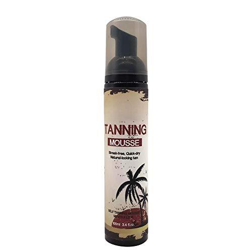 Crema corporal, sin sol, crema bronceada, cuidado de la piel, sin irritación, autobronceador, material ABS, paquete de funda protectora para playa para viajes