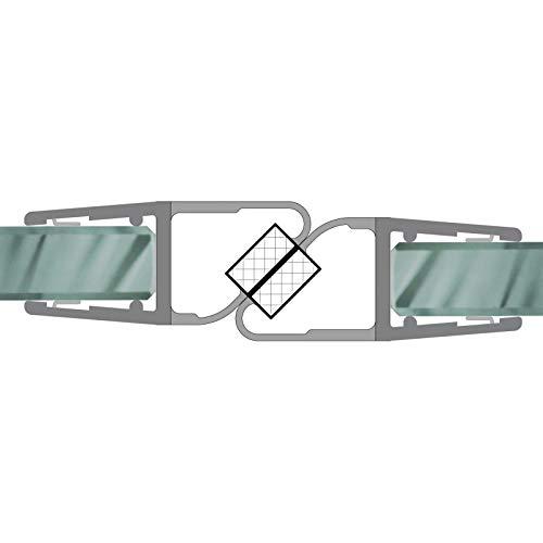 Magnetdichtungen für Dusche180° Magnetprofil Duschdichtung Glasdusche 1 Set für Glasstärke 4-6mm