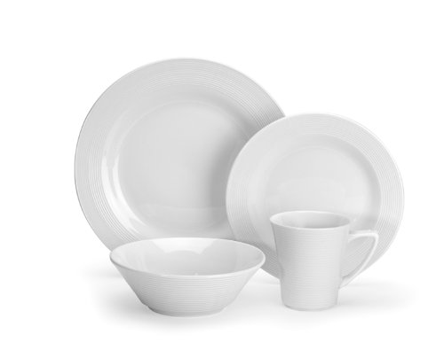 Cuisinart CDP01-S4WL Marne Collection 16-Piece Porcelain Dinnerware Set
