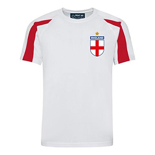 Print Me A Shirt Camiseta de fútbol Personalizados de Inglaterra para Adulto Hombres