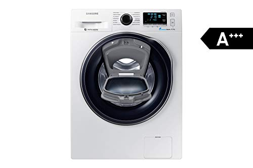 Samsung WW80K6404QW/EG Waschmaschine FL/A+++/116 kWh/Jahr/1400 UpM/8 kg/Add Wash/WiFi Smart Control/Super Speed Wash/Digital Inverter Motor