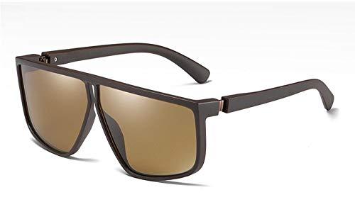U/N Gafas de Sol polarizadas de Titanio de plástico para Hombres, Gafas de Moda con Montura Irregular, Gafas de Sol para Conducir-4