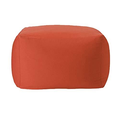 WXFN Funda De Sillón De Saco Grande para Sofá para Adultos, Sin Relleno, Diseño De Respaldo Cómodo con Diseño De Cremallera Oculta,Naranja