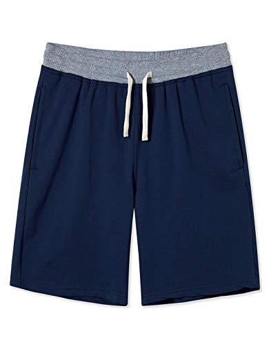UNIFACO Pantalones cortos de algodón para hombre con bolsillos, pantalones cortos deportivos para gimnasio, sala de estar, pantalones cortos deportivos