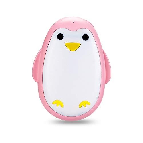 HGA Calentadores Manos Carga USB Recargable Calentador Manos Pareja Pingüino Lindo Bebé Caliente Mini Banco Energía Portátil,Pink