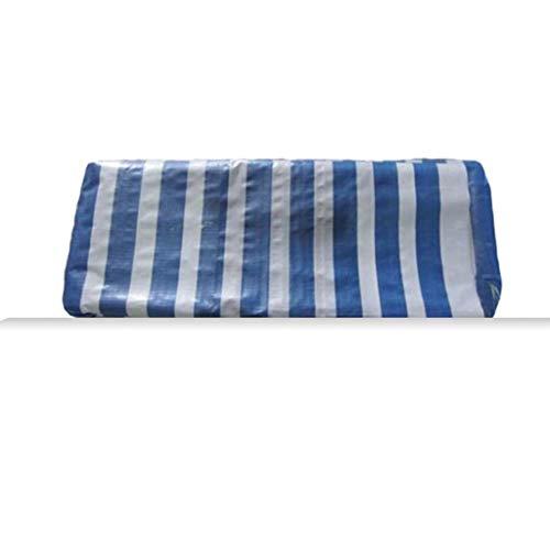 TONG YUE SHOP blauwe en witte strepen, PET-dekzeil, regen-stof-drogende kleurstrepen, stofzeil