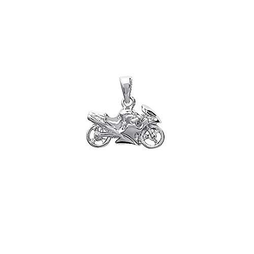 NKlaus biker macizo de plata de ley 925 cadena de moto colgante hombres 19x11mm 5049