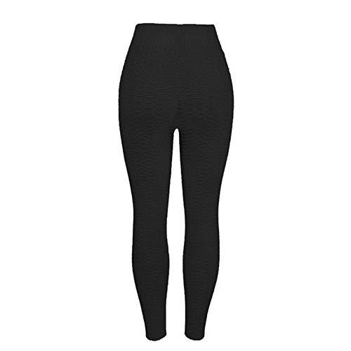 B/H Femme Pantalon de Yoga Longue Chic,Legging sans Couture Taille Haute,Pantalon de Yoga Push Up Energy Sport Fitness-Black_M,Super Doux Pantalon de Yoga Extensible
