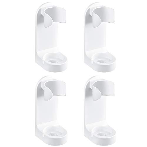 Irich Zahnbürstenhalter Selbstklebende Wand Befestigter, 4 Plätze Zahnputzhalter aus Kunststoff für Bad Küche Ohne Bohren