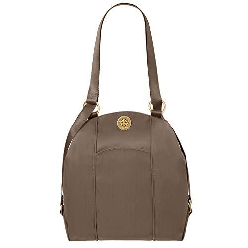 Baggalini Mendoza Handbag -Backpack or Shoulder Purse Convertible Bundle w Key Chain Purse Light (Portobello)