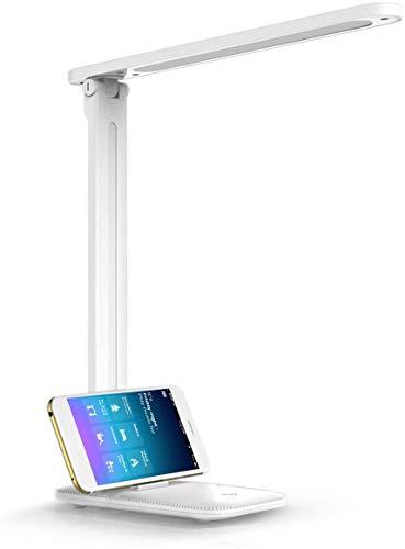 LKESBO Schreibtischlampe LED Büro Dimmbare Tischleuchte Tischlampe Augenschutz mit Touch-Steuerung USB-Anschluss 4W 3 Helligkeitsstufen, 3 Farbmodi für Helles Zuhause Lesen Studieren