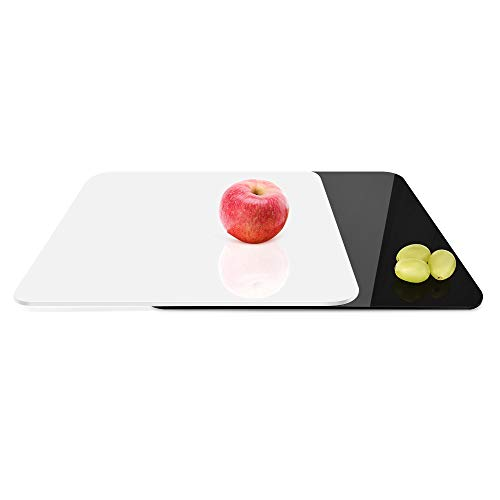 UTEBIT Acrylplatte Fotografie Schwarz Weiß Set 300 * 300 * 5 mm / 12 * 12 * 0.2 Inch Acrylglasplatte Acrylglasplatten Foto Hintergrund Acryl Reflektor Board für Produkt-, Objektfotografie-Aufnahmen