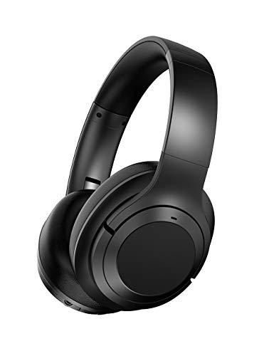 Hybrid Active Noise Cancelling Kopfhörer Bluetooth Kopfhoerer kabellose kopfhörer 50 Std. Bluetooth 5.0 Over Ear Tiefer Bass mit CVC Geräuschunterdrückendes Mikrofon Wiedergabedauer für Reisen Büro