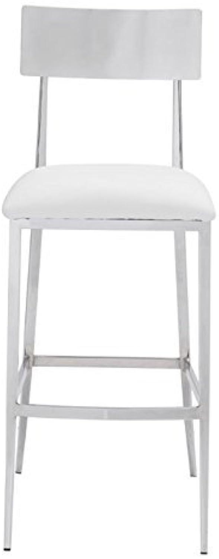 Zuo Mach Bar Chairs (Set of 2), White
