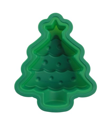 Siliwelt Silikon Backform Weihnachtsbaum 25 x 21 x 7 cm