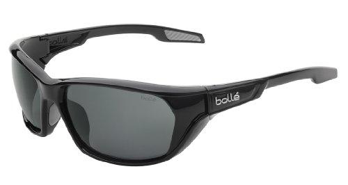 Bollé Aravis Shiny Black - Polarized TNS oleo AF Homme, Noir Brillant Polar, L