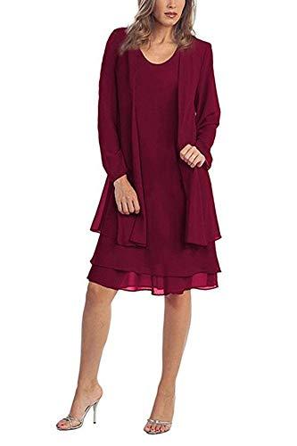 Alex Evenings Women's Petite Tea Length Button-Front Jacket Dress, Electric Blue, 14P