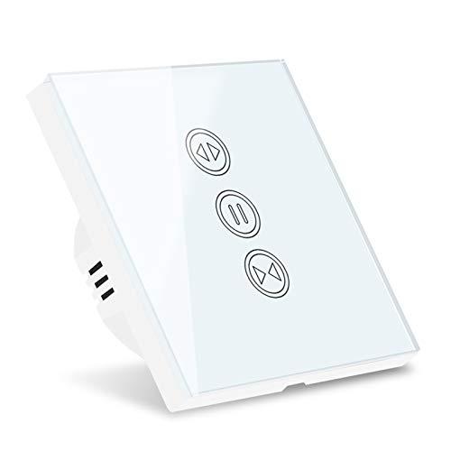 XINGFUQY Interruptor de Las persianas de la Cortina Inteligente WiFi para el girador del Rodillo Motor Tubular eléctrico de Google Home Alexa Echo Smart Home App Timer (Color : 2pc)