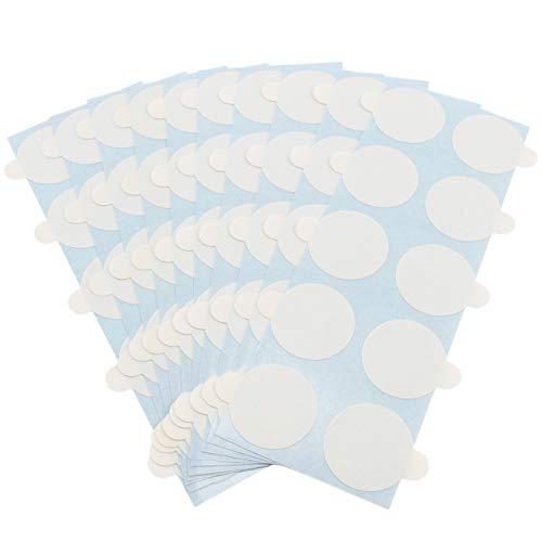 Klebeshop24 DOPPELSEITIGE KLEBEPUNKTE | ABLÖSBAR auf einer Seite | Transparent | Durchmesser & Menge wählbar | Klebepunkte für Warenproben, Muster, Giveaways, Mailings, Karten, Visitenkarten, Flyer etc. / 15 mm 100 Stück