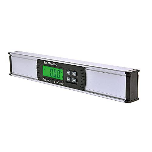 ASDMRQ Nivel de alcohol, nivel electrónico, nivel de burbuja vertical, nivel de visualización digital, instrumento de medición de ángulo de inclinación, herramienta de medición de nivel