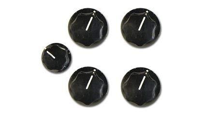 Rickenbacker Knobs Vintage Black Set (5)
