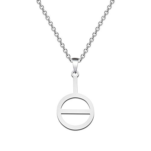 Agender Symbol Necklace Non-binary Gender Androgyne Androgyny Sign Genderqueer Genderfluid Bigender Trigender (Agender Symbol Necklace)