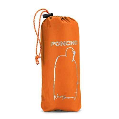 Flybloom Erwachsener Regen Mantel Kleidet wasserdichte Reise Poncho Camping Rucksack Regen Abdeckung Im Freien, Orange