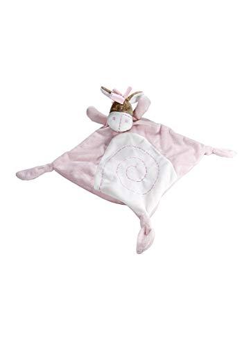 Bebé niña doudou de peluche rosa con burrito