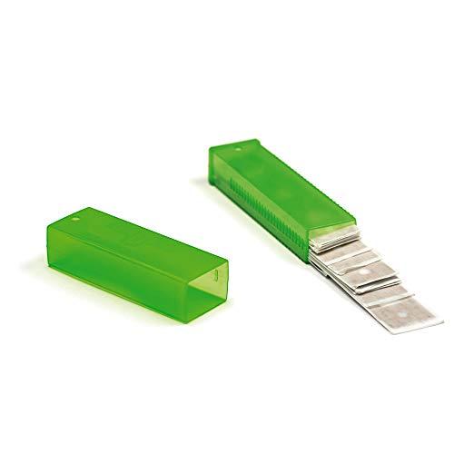 Unger Karbon-Ersatzklingen für Glasschaber (25 Stück, für Glasflächen, mit Kunststoff-Schiebebox, Klingen mit Rostschutz) TR100