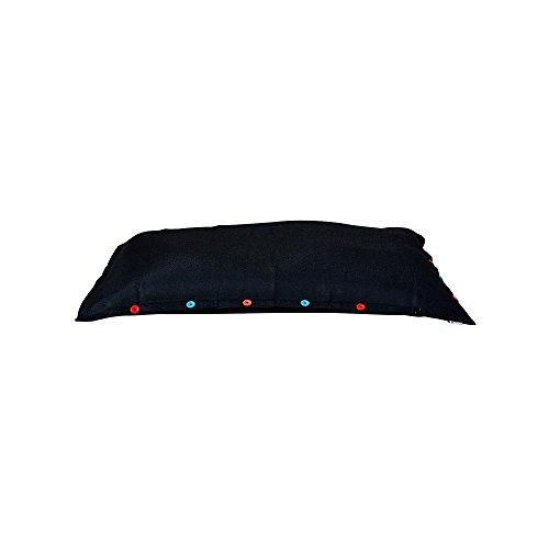 SHELTO - Pouf Shelto – Intérieur / Extérieur / Piscine – Ergonomique - Made In France - 125 X 175 cm – Colori Noir